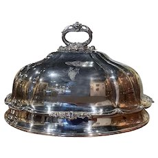19th Century English Silver Plated Copper Meat Dome