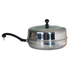 """Vintage 10"""" skillet, Farberware, Chicken Fry, Pan, Dome Lid, Stainless Steel"""
