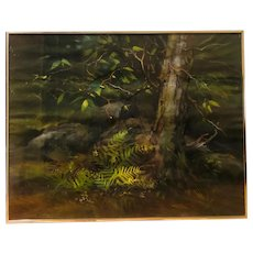 Untitled forest floor landscape - watercolor (Arthur I. Fox)
