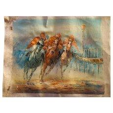 Veccio oil on canvas, unframed