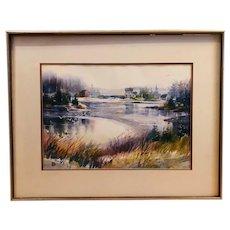 The Mill Pond (Carlton Plummer original watercolor)
