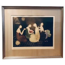The Gathering - artist-signed limited edition lithograph (Eng Tay)