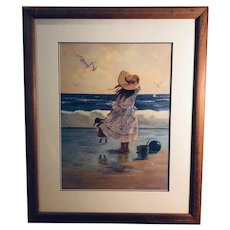 Untitled - young girl in bonnet at the beach (Christa Kieffer)