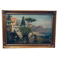Italian Riviera - oil on canvas (P. Pablo)
