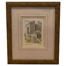 Bunratty Castle and Durty Nellys lithograph (Philip Gray)