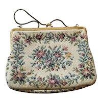 "Vintage WALBORG Tapestry Handbag West Germany 8""x6"""