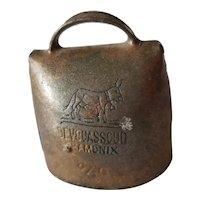 Vintage French Devouassoud Chamonix Donkey Goat Bell 8/0 with Clapper