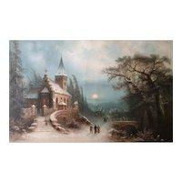 Albert BREDOW - Christmas' night under the snow