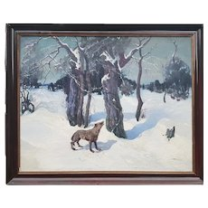 Andy RATOUCHEFF - The wolf in the snow