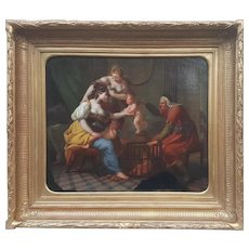 French School of the second half of the 18th century - The Seller of Loves