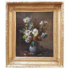 Eugène PETIT - Flowers in a vase
