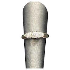 Art Deco Platinum Pin Converted into Ring