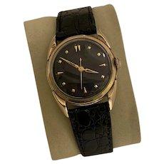 Bulova Black Sunburst Dial, Automatic 23 Jewels