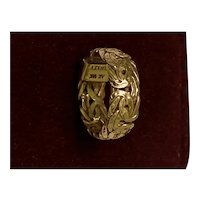 Beautiful Vintage 18kt Gold handmade Turkish Ring
