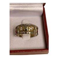 10k Two Tone Diamond Ring