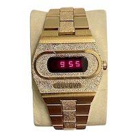 1974 Vintage Bulova Accuquartz 228 Big Block N4 Red LED Digital Watch