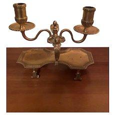 Rare Gilt Bronze Candleholder