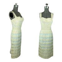 1950s Wiggle Dress eyelet and lace