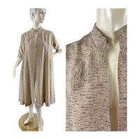 1950s swing coat neutral beige MCM design