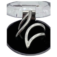 Sterling Silver 925 Wrap / Cuff Ring 6.6g  Size 10 Adjustable