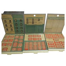 1950's Trubyte New Hue 3 Tray Case Dentist Teeth Mold Sample Guides