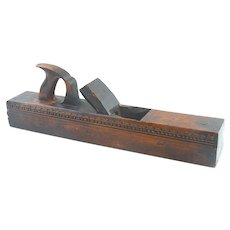 """Carved Alex. Mathieson & Son 22"""" jointer"""