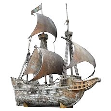 Hand-crafted scratch-built ship model