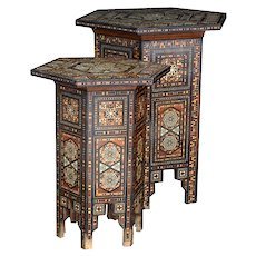 Occasional inlaid Syrian Tables