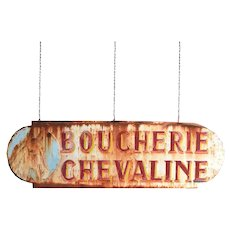 French Butchers Trade Sign
