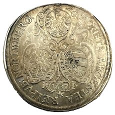 1637 Nurnberg German States Silver Thaler