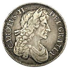 1679 English Silver Crown