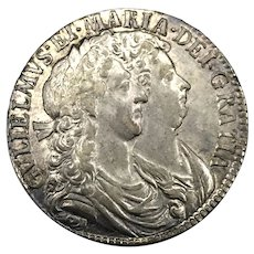1689 English Silver Half Crown