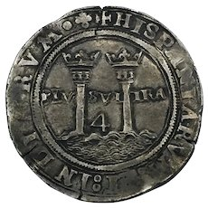 1542-1555 G Mexico Silver 4 Reales