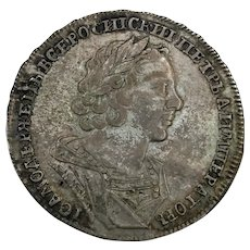 1725 Russia Silver Rouble
