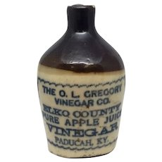 O.L. Gregory Vinegar Co. Stoneware Pottery Sample Jug