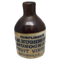 R.M. Hughes & Co. Fruit Vinegar Stoneware Pottery Sample Jug