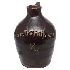 Kentucky Whiskey Stoneware Pottery Sample Jug