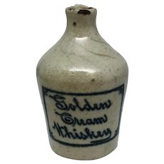 Golden Cream Whiskey Stoneware Pottery Sample Jug