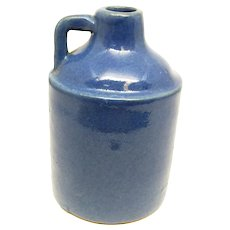 Blue Stoneware Pottery Sample Jug