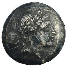 160-143BC Greek City of Myrina Silver Tetradrachm