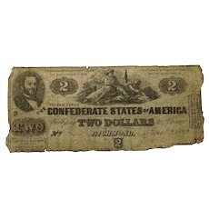 1862 CSA $2 Currency - T-42 (Confederate States of America)