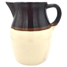 Small Two Tone Earthenware Pitcher