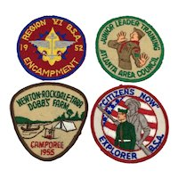 Four Vintage Boy Scouts of America Patches BSA