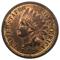 1886 Indian Head Cent Type 1
