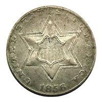 1856 Three Cent Silver