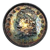 1833 Capped Bust Hald Dime