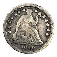 1849 O Seated Liberty Half Dime