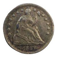 1857 Seated Liberty Half Dime