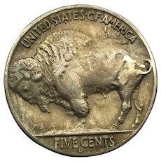 1937 D 3 Legs Buffalo Nickel