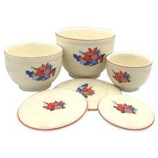 Universal Potteries Calico Fruit Jars - Set of Three